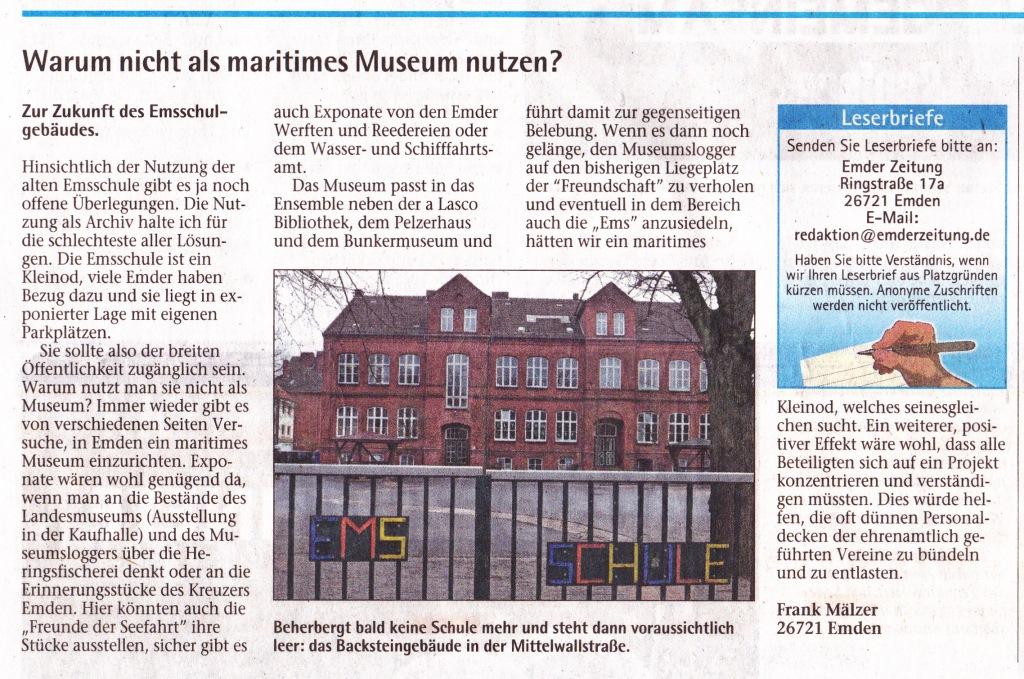 EZ Leserbrief von Frank Mälzer