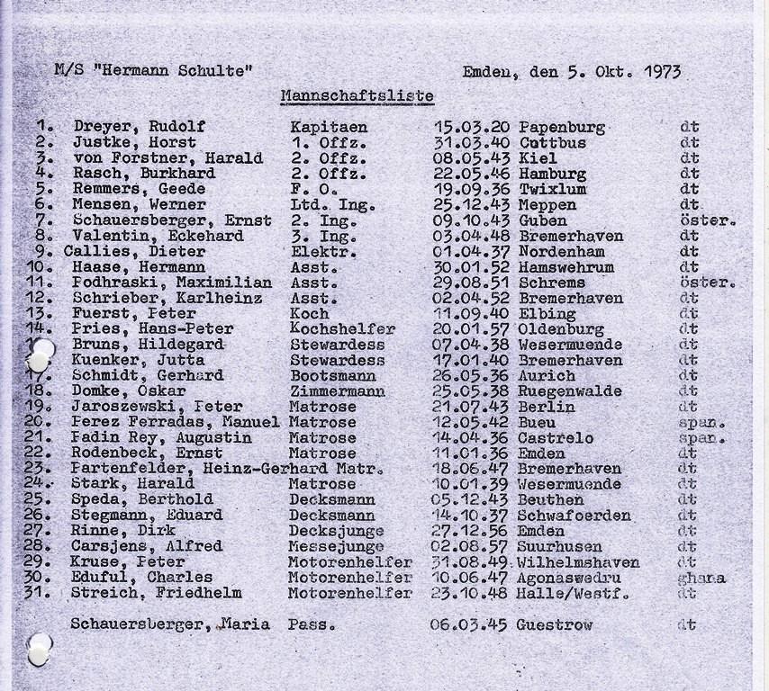 Hermann Schulte 1973