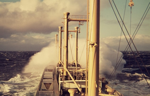 MS Johann Schulte 1970 Winter Nordatlantik Orkan