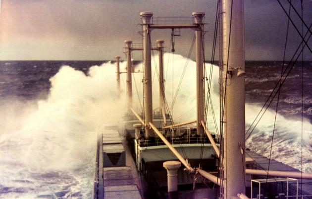 MS Johann Schulte 1970 Winter Nordatlantik Orkan Stärke 12