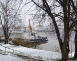 Ein Wintermorgen im Emder Hafen